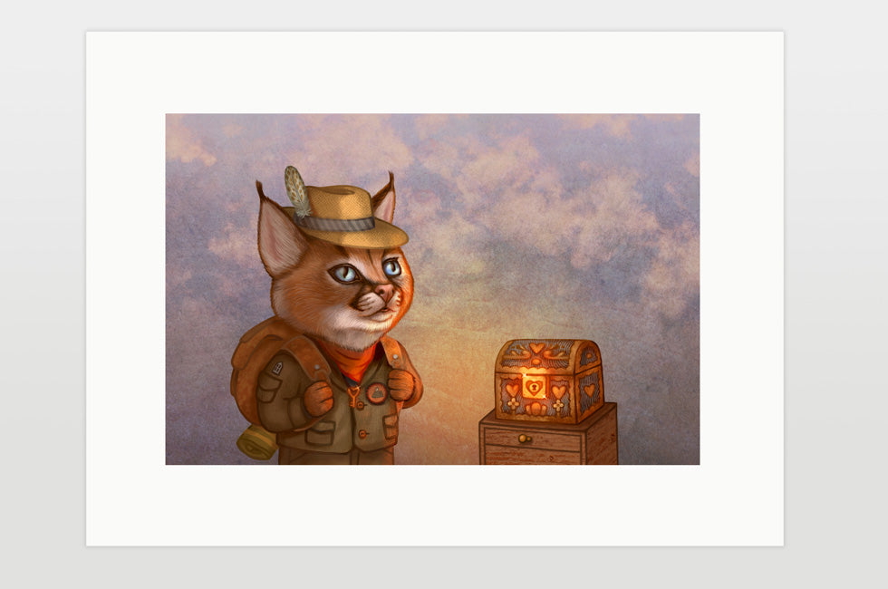 "Print ""The wise traveler leaves his heart at home"" (Caracal)"