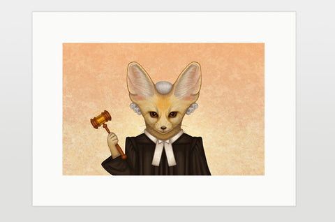 "Print ""Judges should have two ears, both alike"""