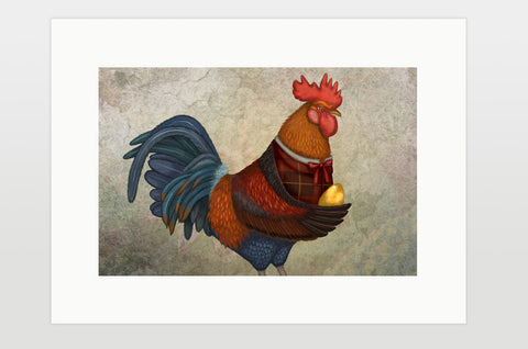 "Print ""If you were born lucky, even your rooster will lay eggs"" (Rooster)"