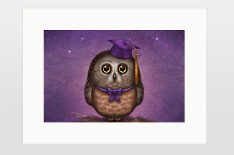 "Print ""Wonder is beginning of wisdom"" (Owl)"