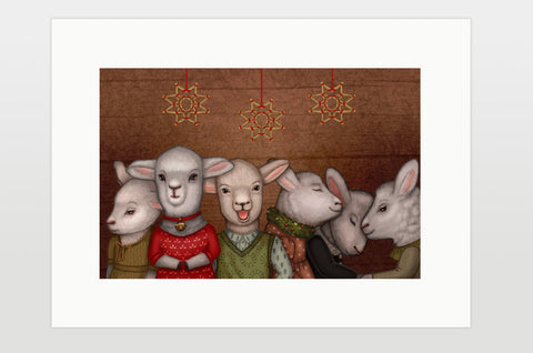 "Print ""Many good people can find room in a small space"" (Sheep)"