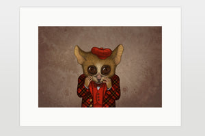 "Print ""Fear has big eyes"" (Mouse lemur)"