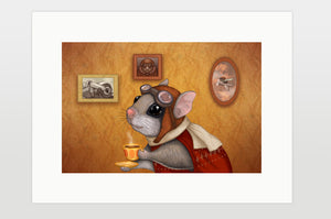 "Print ""Who is timid in the woods boasts at home"" (Flying squirrel)"
