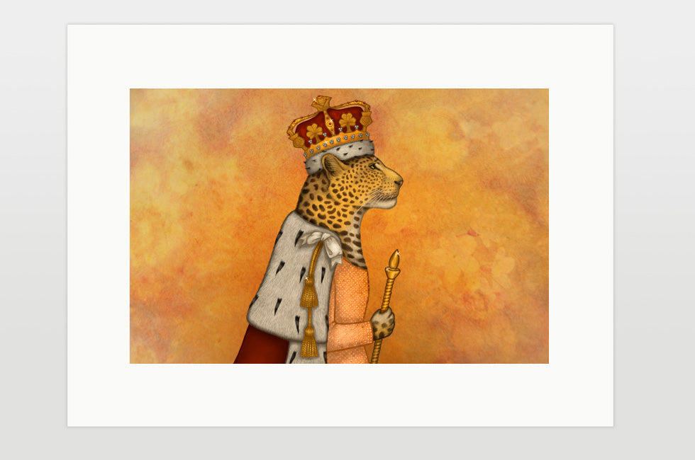 "Print ""In every woman there is a queen"" (Leopard)"