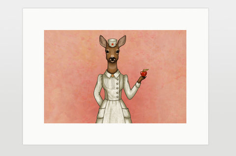 "Print ""An apple a day keeps the doctor away"" (Deer)"