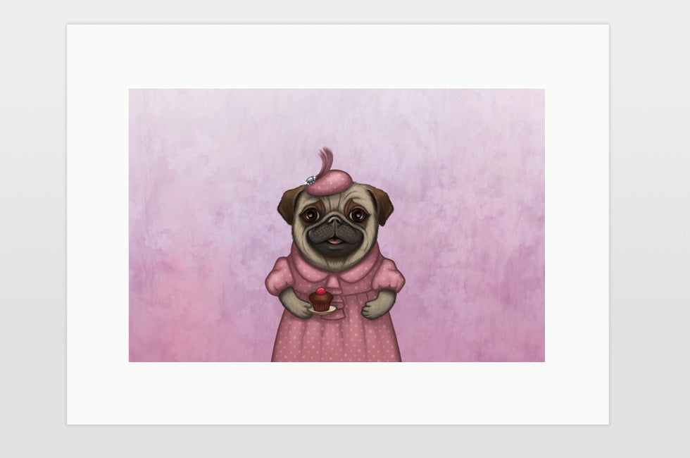 "Print ""A full stomach makes a happy heart"" (Pug)"