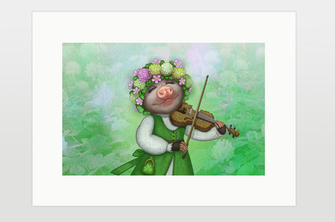 "Print ""The older the fiddle the sweeter the tune"""