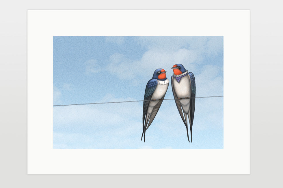 "Print ""Everybody loves his homeland"" (Swallows)"