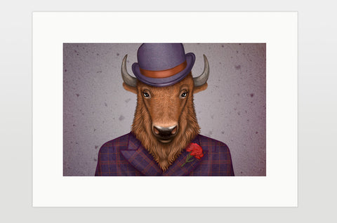 "Print ""Beard is the man's honor"" (Bison)"