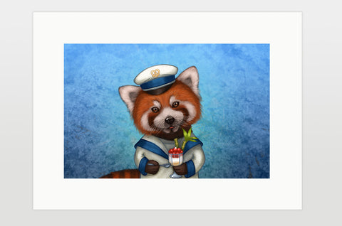 "Print ""Life is uncertain so eat your dessert first"" (Red panda)"