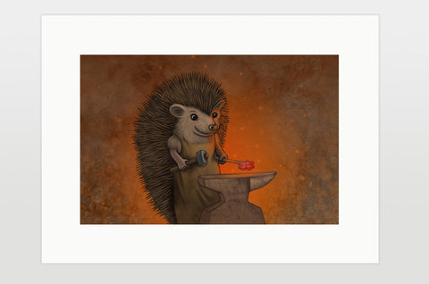 "Print ""Everyone is the blacksmith of his own fortune"" (Hedgehog)"