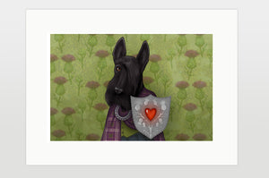 "Print ""Real power is in the heart"" (Scottish Terrier)"