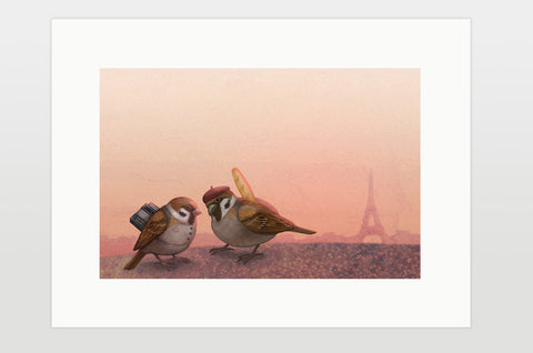"Print ""Paris is owned by the early risers"" (Sparrows)"