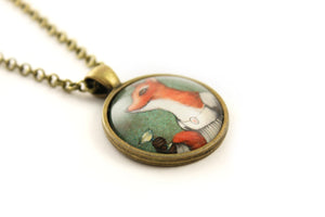 "Pendant  ""She who doesn't risk never gets to drink champagne"" (Fox)"