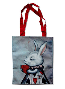 "Tote bag ""Lucky at cards, unlucky in love"" (Hare)"