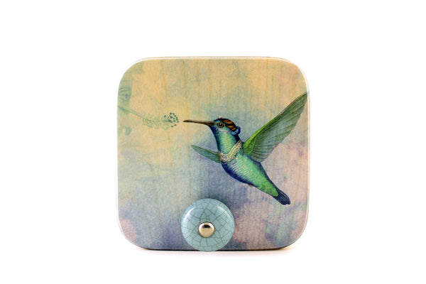"Wall hanger ""Small is beautiful"" (Hummingbird)"