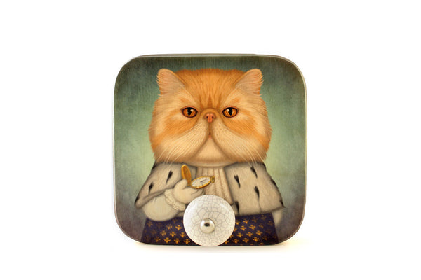 "Wall hanger ""Punctuality is the politeness of kings"" (Persian cat)"