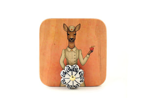 "Wall hanger ""An apple a day keeps the doctor away"" (Deer)"