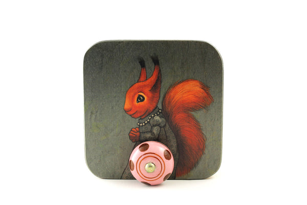 "Wall hanger ""The apple never falls far from the tree"" (Squirrel)"