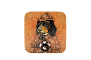 "Wall hanger ""Everything happens for a reason"" (Dachshund)"