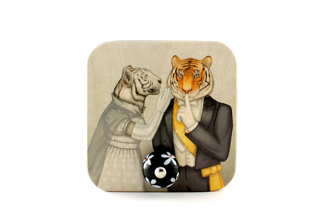 "Wall hanger ""Speech is silver, silence is golden"" (Tigers)"