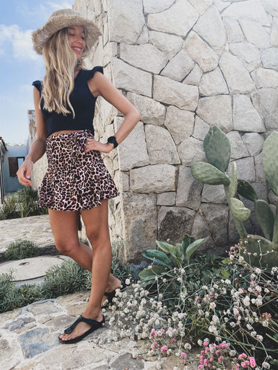 MINI SHORT LEOPARDO ROSADA
