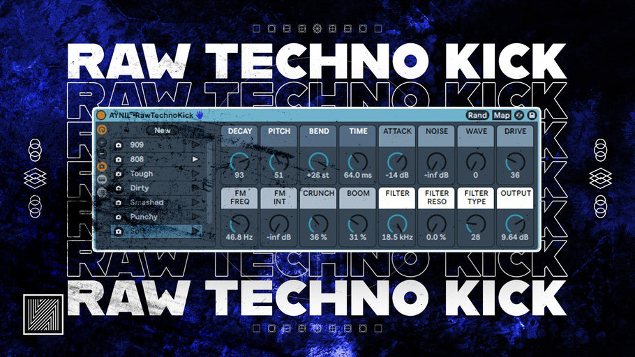 How to Make Raw Techno Kick (free rack) [Ableton Techno Tutorial]