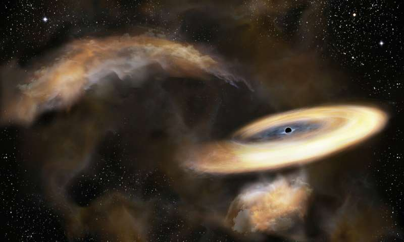 Hiding black hole found