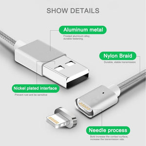3-in-1 Magnetic Cable For Micro USB&Type-C&iPhone