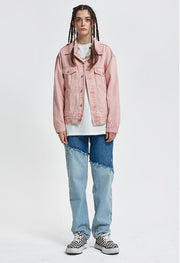 Donsmoke Cherry Blossom Dyed Denim Jacket - OH 2X Asia's Trending Streetwear OH2X