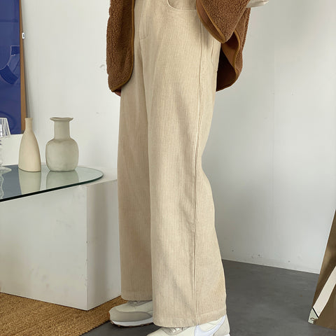 OH Waist Button Corduroy Pants - OH 2X Asia's Trending Streetwear OH2X