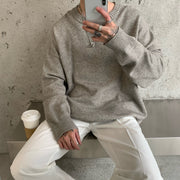OH Essential Ribbed Collar Sweater - OH 2X Asia's Trending Streetwear OH2X