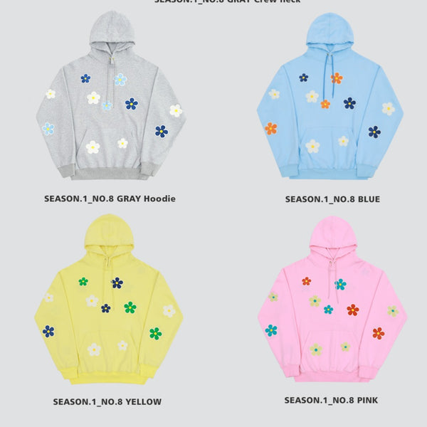 M. Prince Simple Flower Hoodie