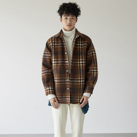 OH Heavy Plaid Flannel Jacket - OH 2X Asia's Trending Streetwear OH2X