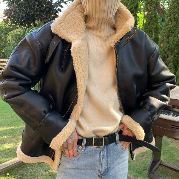 OH Essential Shearling Leather Jacket