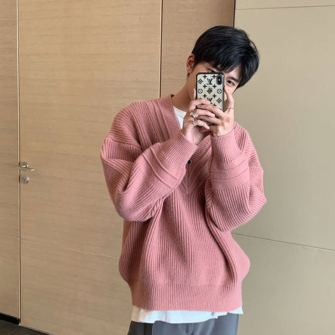 OH Essential College V Collar Sweater - OH 2X Asia's Trending Streetwear OH2X