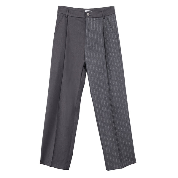 ";Perdu"" Pleated Striped Pants"