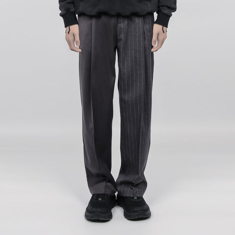 ";Perdu"" Pleated Striped Pants - OH 2X"