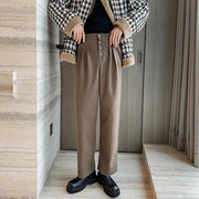 OH Essential Button Fly Trousers - OH 2X Asia's Trending Streetwear OH2X
