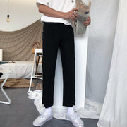OH Essential Split Cropped Slim Trousers - OH Garments Asian Trending Streetwear