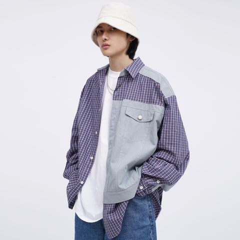 M. Prince Multi Plaid Tone Shirt
