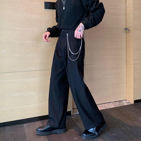 OH Essential Chain Accent Trousers - OH 2X Asia's Trending Streetwear OH2X
