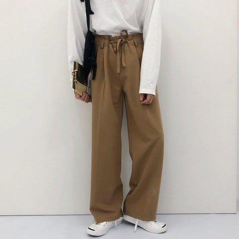 OH Essential Waist Knot Trousers - OH Garments Asian Trending Streetwear