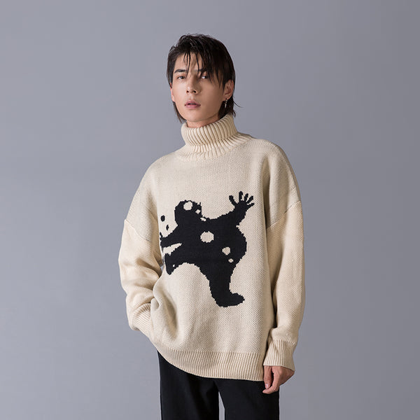 OH Spooked Snowman Sweater