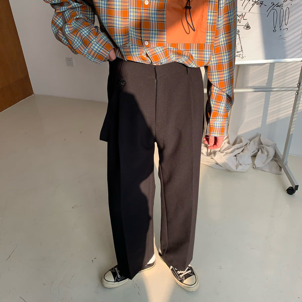 OH Essential Band Accent Straight Trousers