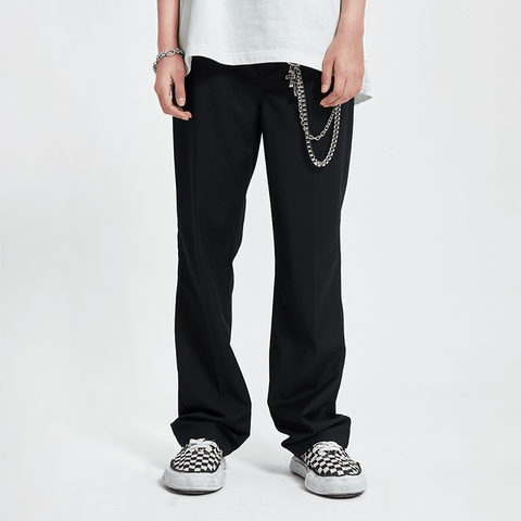 Donsmoke Flared Suit Trousers - OH 2X Asia's Trending Streetwear OH2X