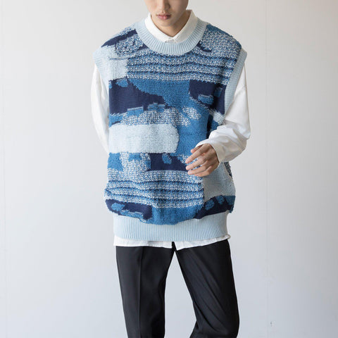 OH Ocean Waves Sweater Vest - OH Garments Asian Trending Streetwear
