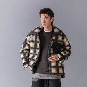 OH Plaid Shearling Work Coat