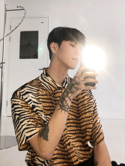 OH Tiger Pattern Shirt - OH 2x