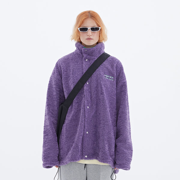 Deta Details Fleece Overlap Jacket